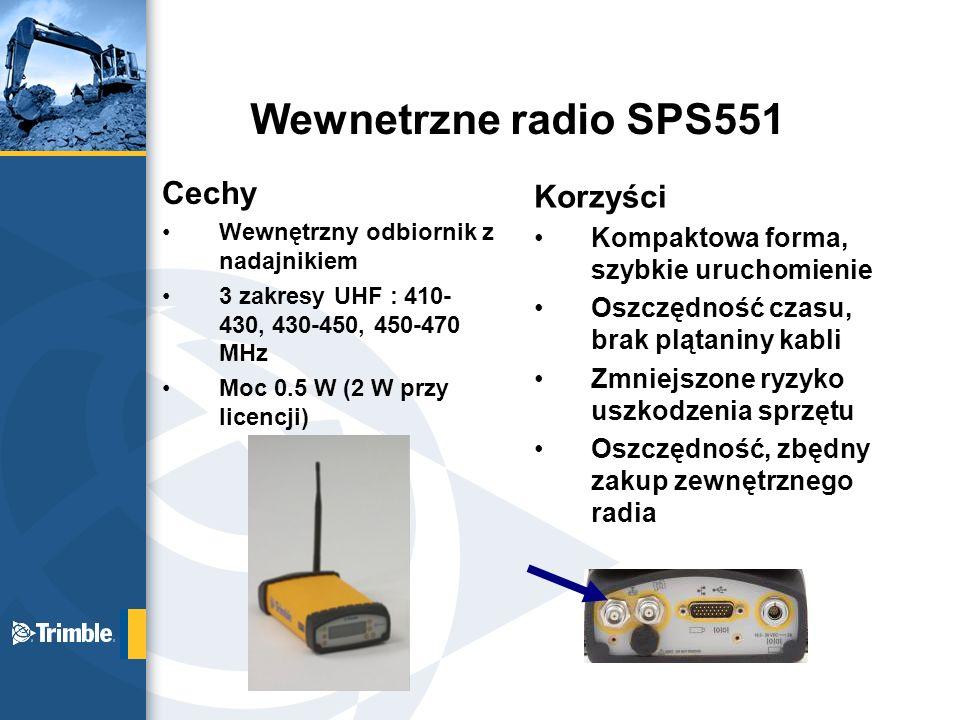 Wewnetrzne radio SPS551 Cechy Korzyści