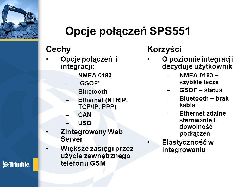 Opcje połączeń SPS551 Cechy Korzyści Opcje połączeń i integracji:
