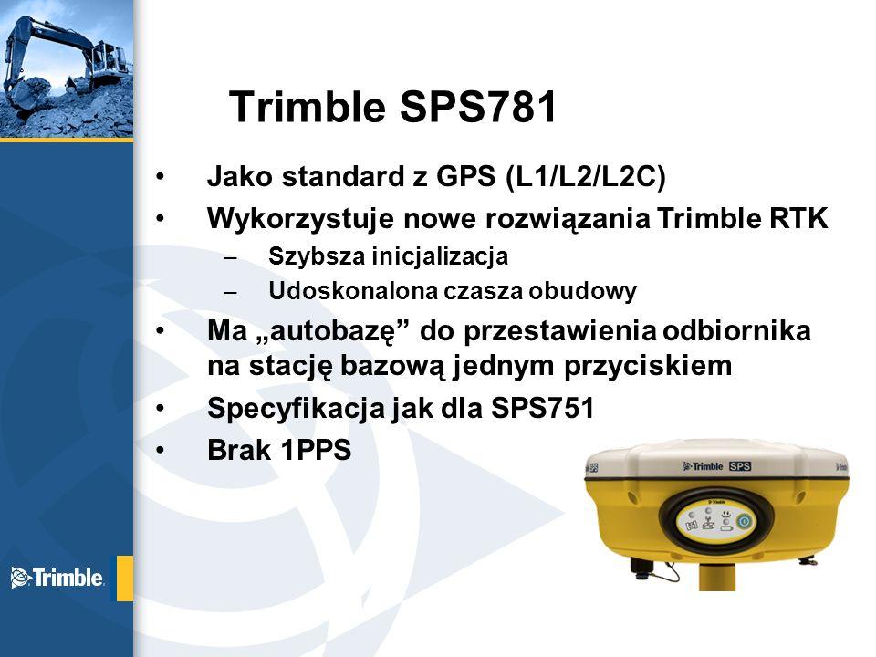 Trimble SPS781 Jako standard z GPS (L1/L2/L2C)