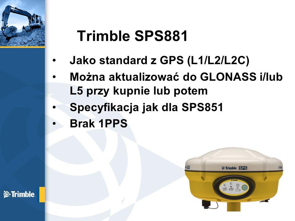 Trimble SPS881 Jako standard z GPS (L1/L2/L2C)