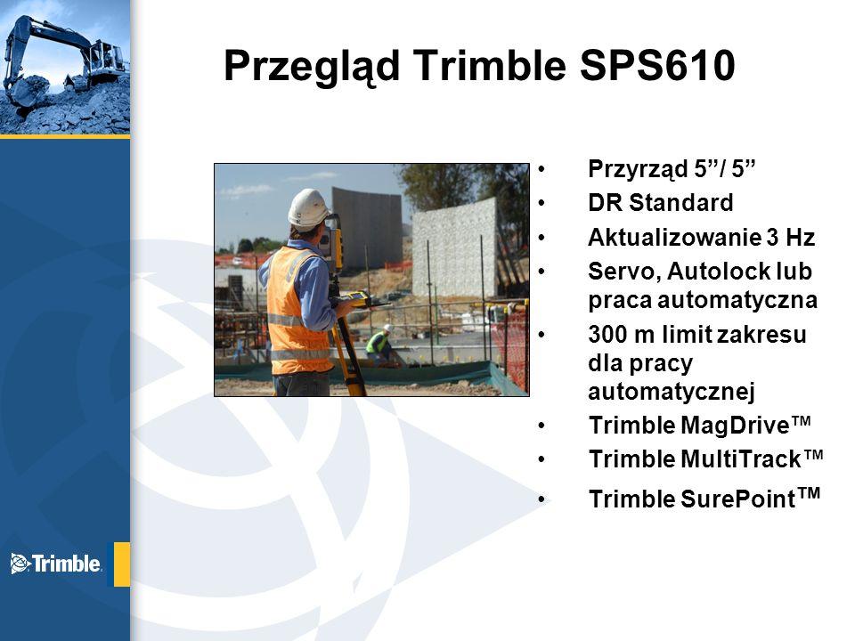 Przegląd Trimble SPS610 Przyrząd 5 / 5 DR Standard