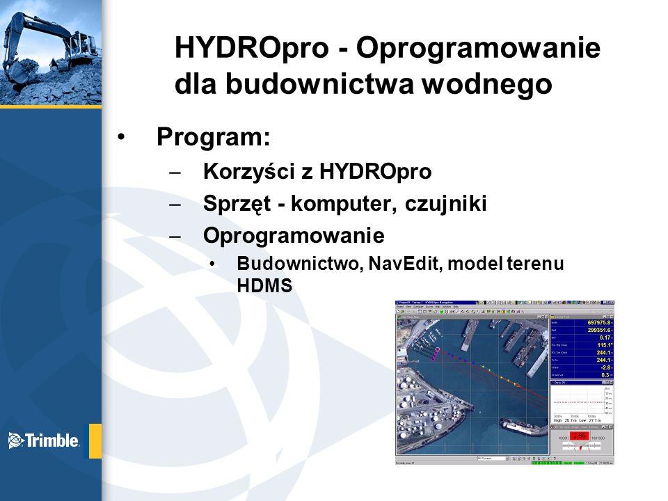 HYDROpro - Oprogramowanie dla budownictwa wodnego