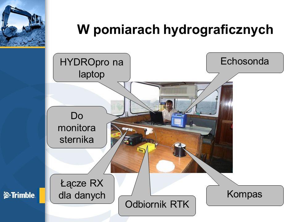 W pomiarach hydrograficznych