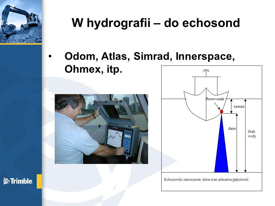 W hydrografii – do echosond