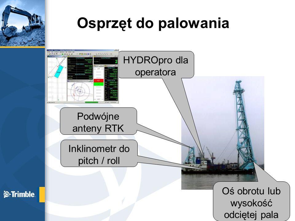 Osprzęt do palowania HYDROpro dla operatora Podwójne anteny RTK