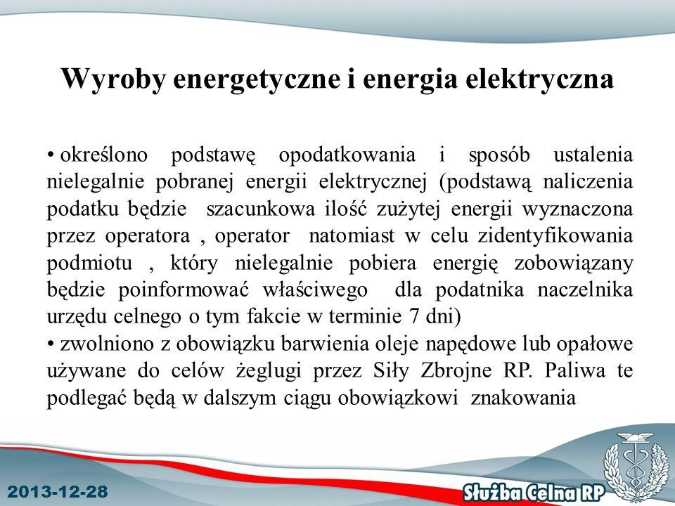Wyroby energetyczne i energia elektryczna