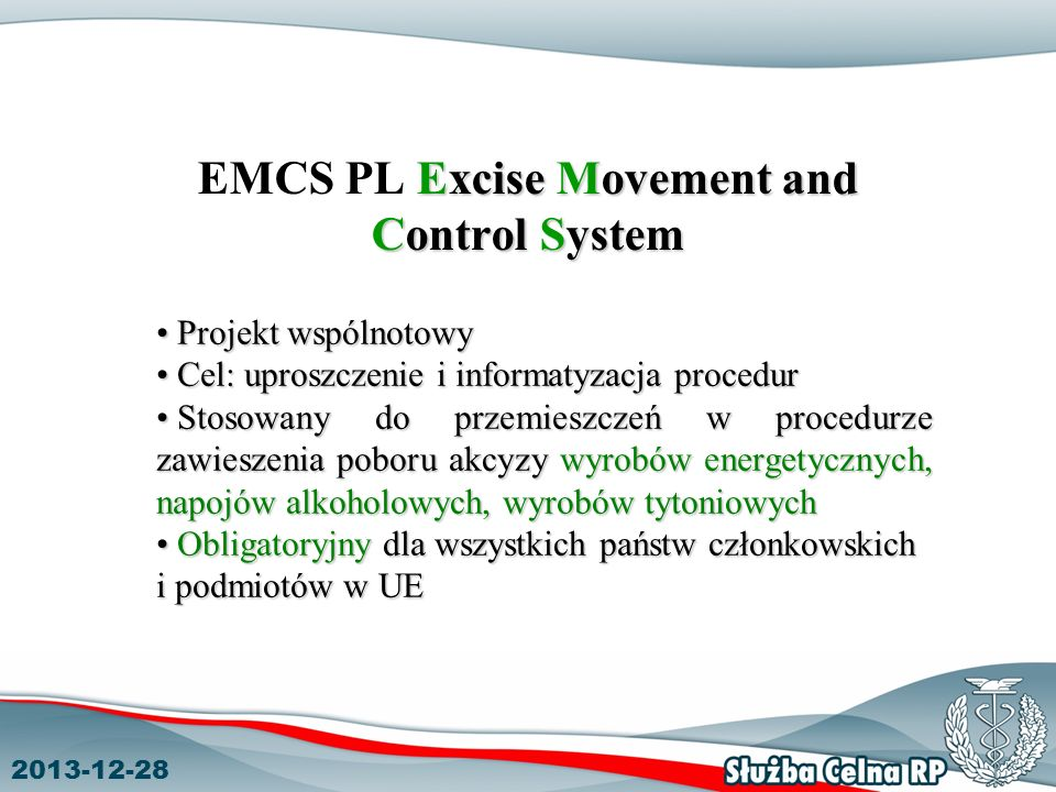 EMCS PL Excise Movement and Control System