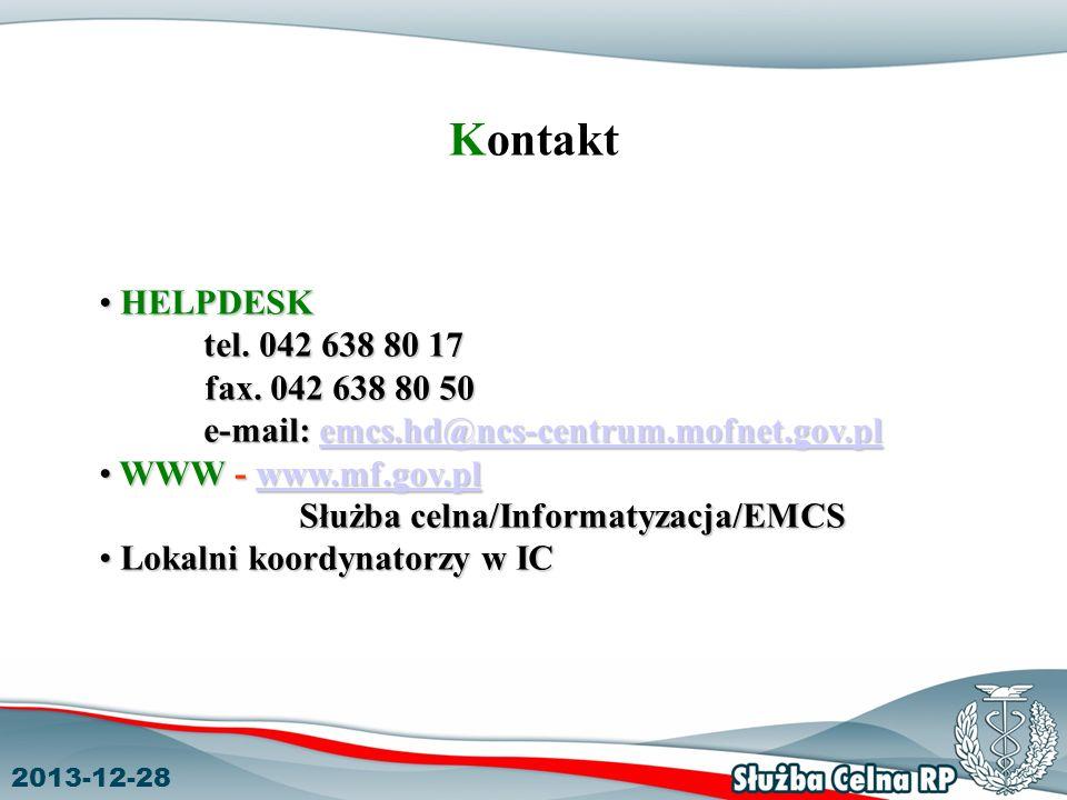 Służba celna/Informatyzacja/EMCS