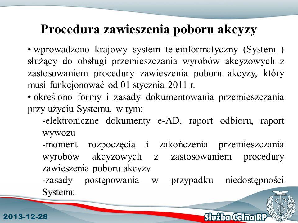 Procedura zawieszenia poboru akcyzy