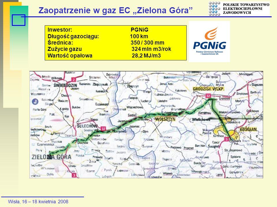 """Zaopatrzenie w gaz EC """"Zielona Góra"""
