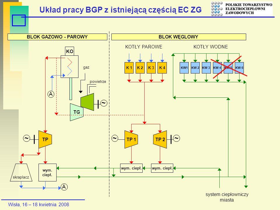 Układ pracy BGP z istniejącą częścią EC ZG