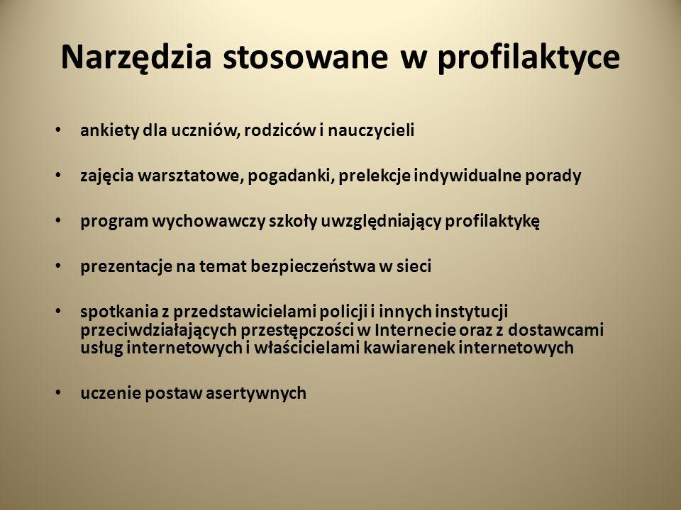 Narzędzia stosowane w profilaktyce