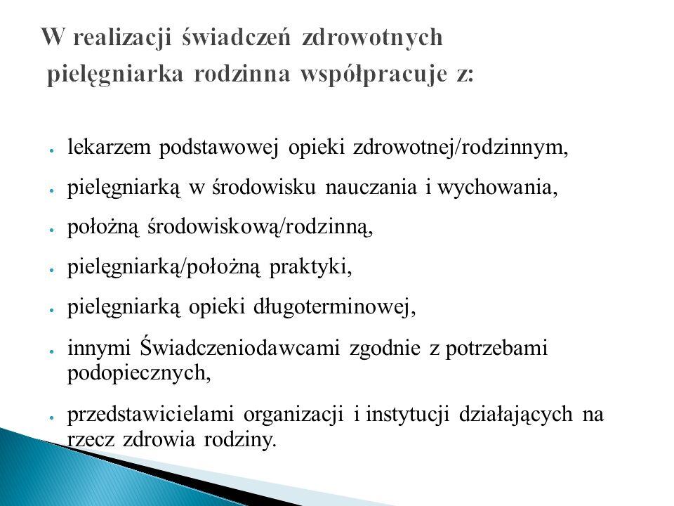 W realizacji świadczeń zdrowotnych pielęgniarka rodzinna współpracuje z: