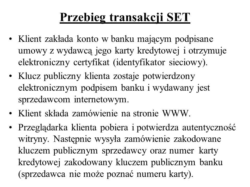Przebieg transakcji SET