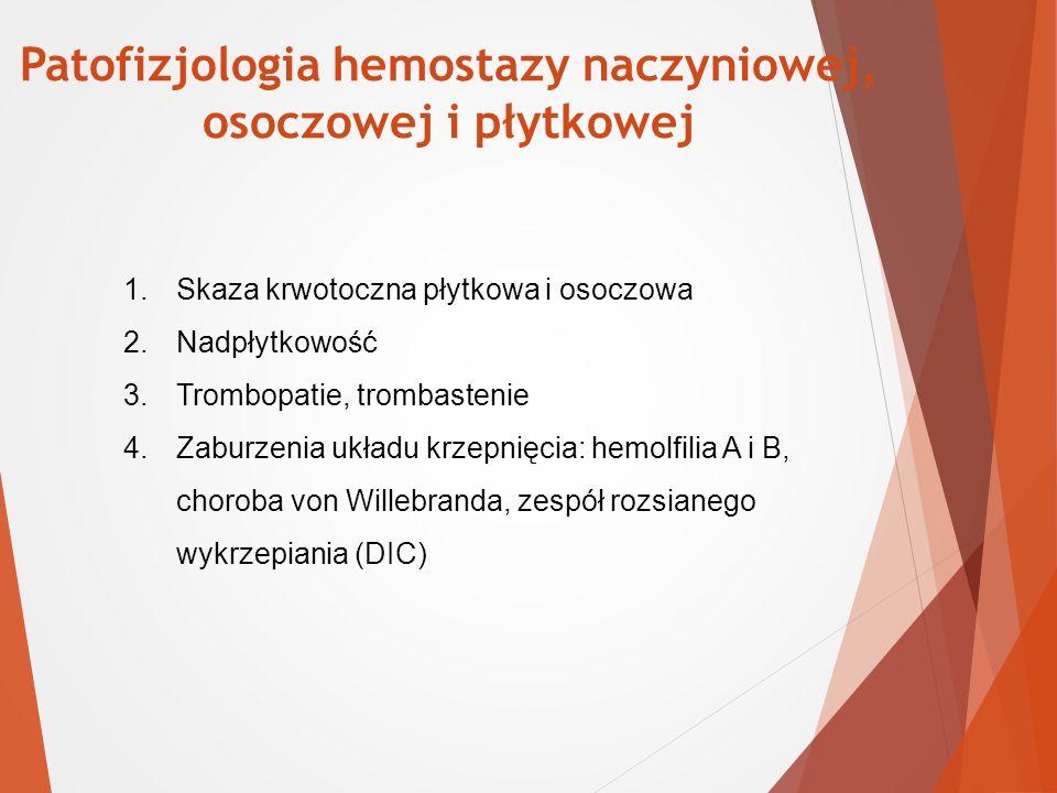 Patofizjologia hemostazy naczyniowej,