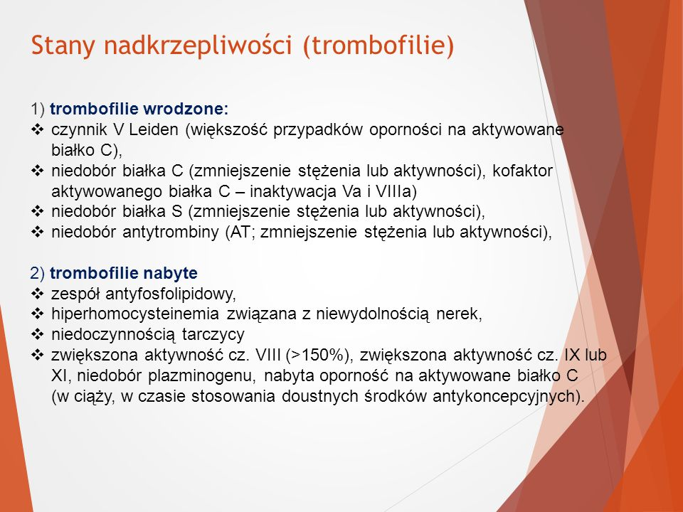 Stany nadkrzepliwości (trombofilie)