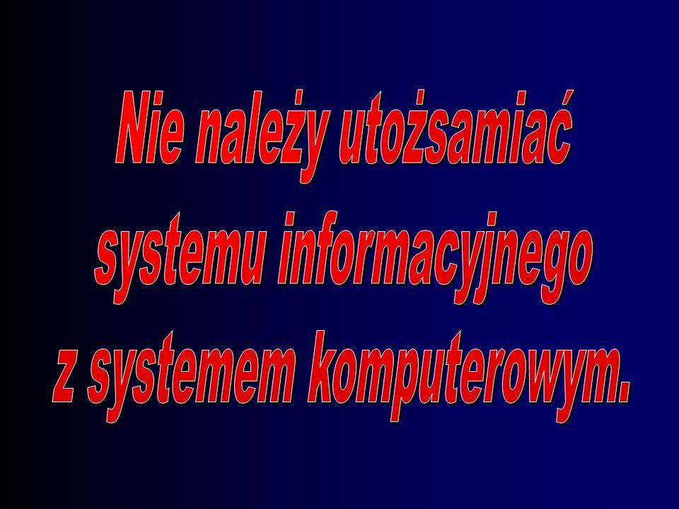 systemu informacyjnego z systemem komputerowym.