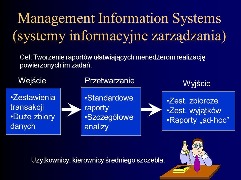 Management Information Systems (systemy informacyjne zarządzania)