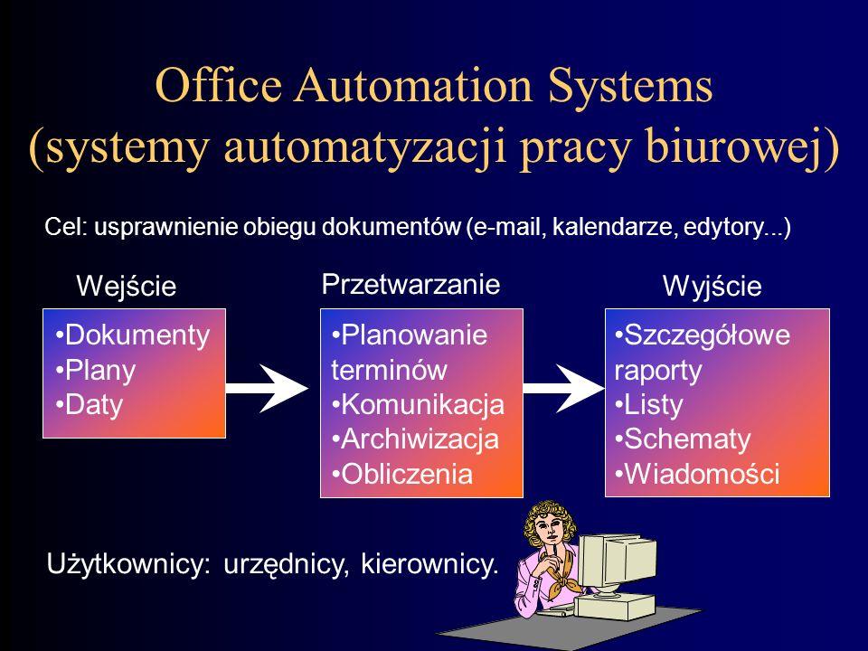 Office Automation Systems (systemy automatyzacji pracy biurowej)