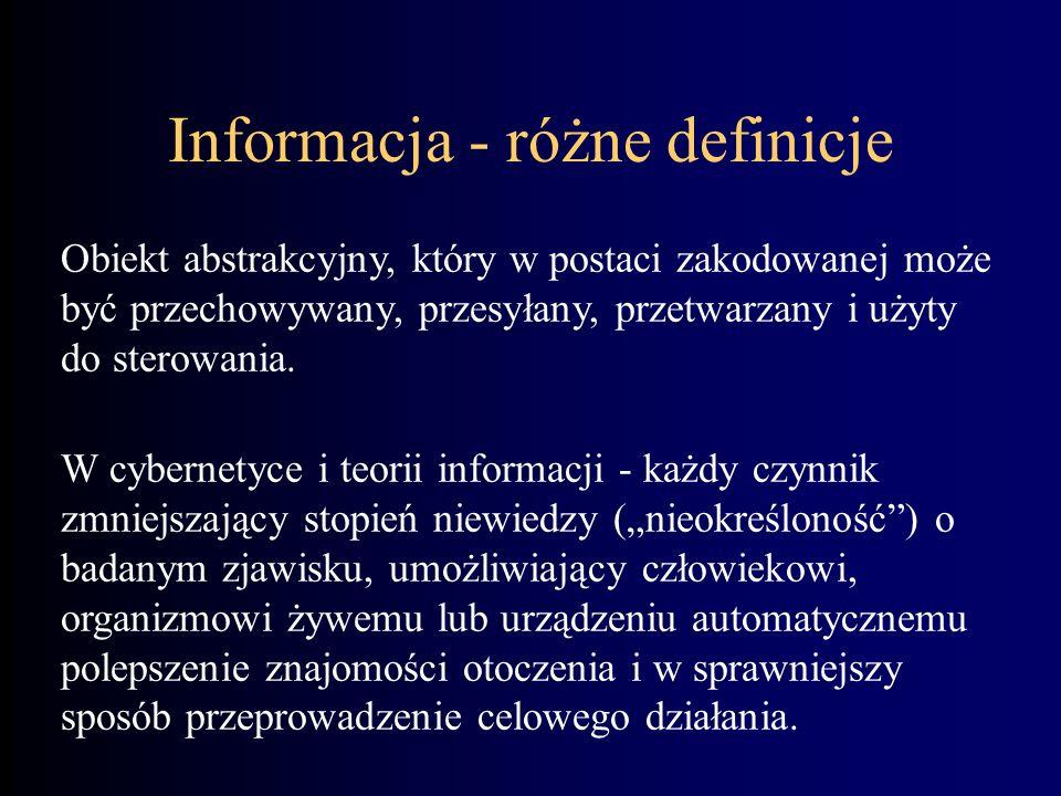 Informacja - różne definicje