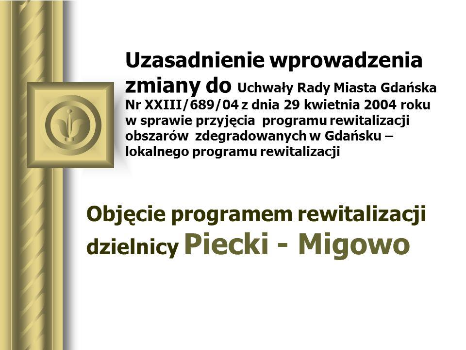 Objęcie programem rewitalizacji dzielnicy Piecki - Migowo