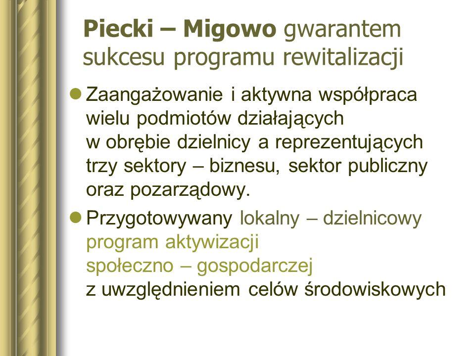Piecki – Migowo gwarantem sukcesu programu rewitalizacji