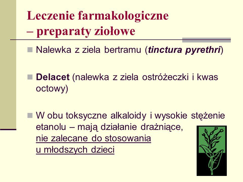 Leczenie farmakologiczne – preparaty ziołowe