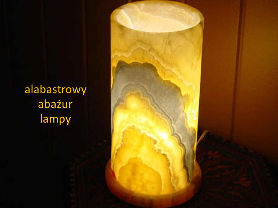 alabastrowy abażur lampy