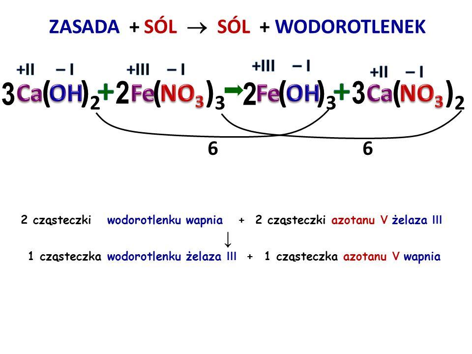 + + 3 ( )2 2 ( )3 2 ( )3 3 ( )2 Ca OH Fe NO3 Fe OH Ca NO3