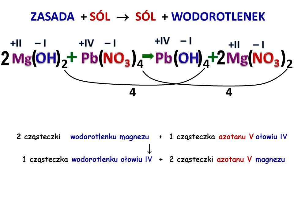 + + 2 ( )2 ( )4 ( )4 2 ( )2 Pb NO3 Pb OH Mg NO3 Mg OH