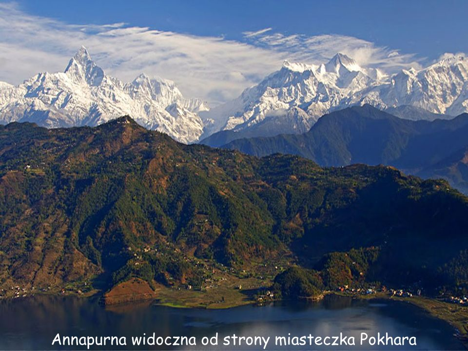 Annapurna widoczna od strony miasteczka Pokhara