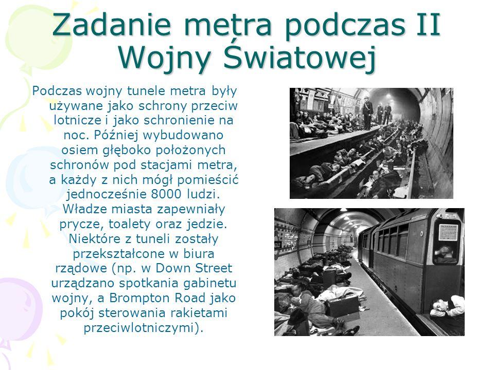 Zadanie metra podczas II Wojny Światowej