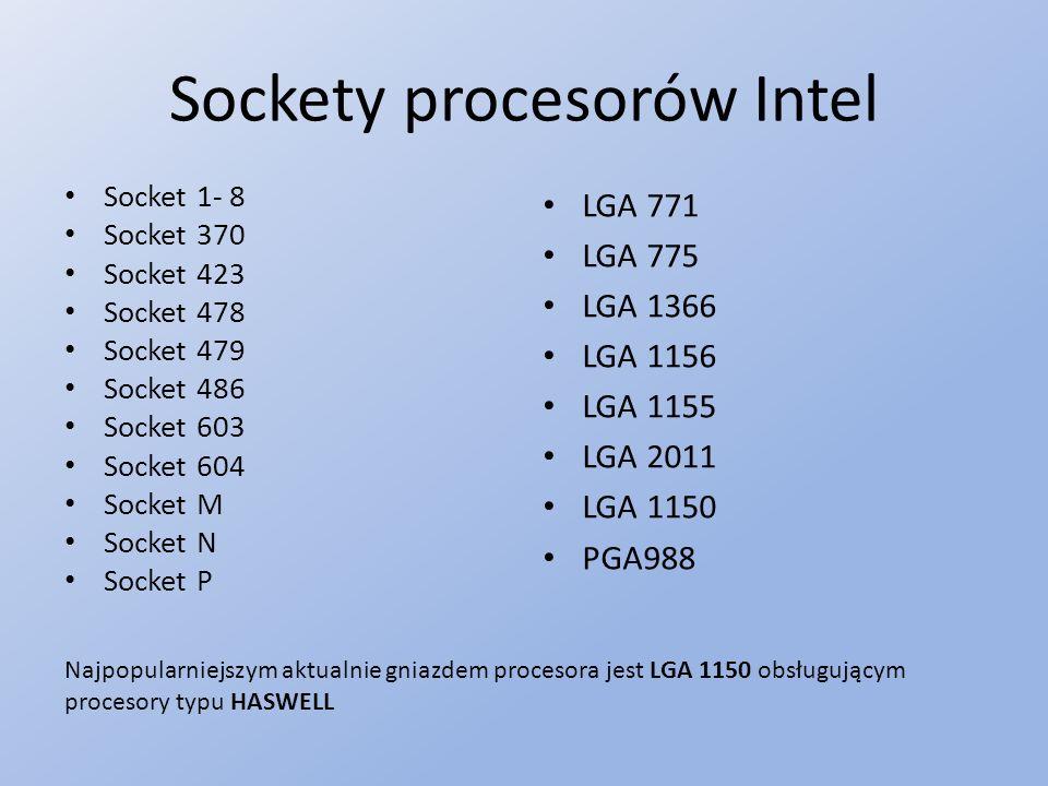 Sockety procesorów Intel