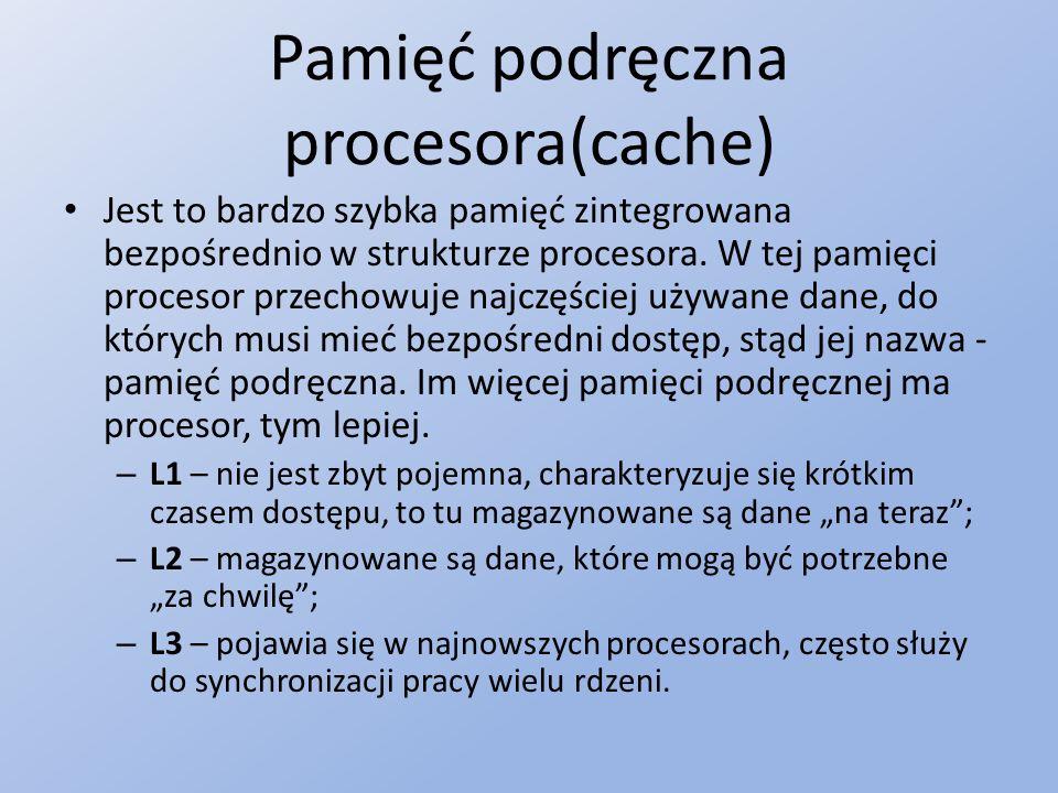 Pamięć podręczna procesora(cache)
