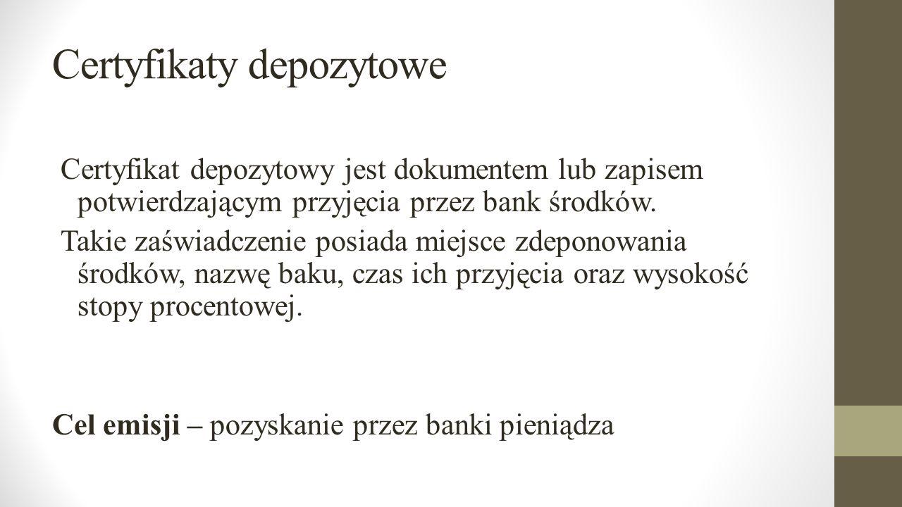 Certyfikaty depozytowe