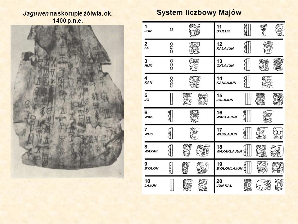 Jaguwen na skorupie żółwia, ok. 1400 p.n.e.