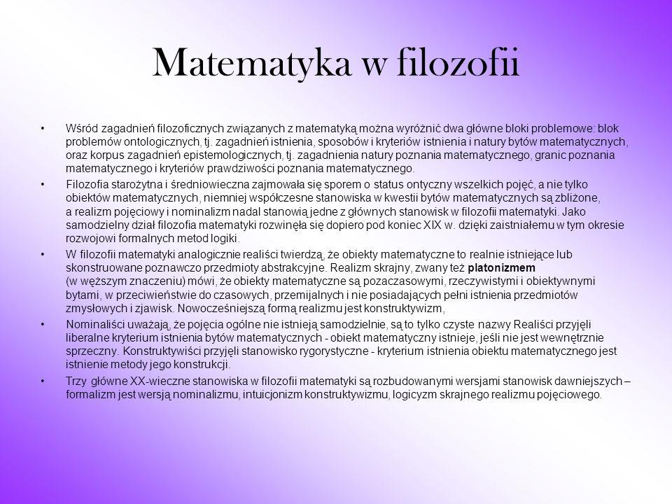 Matematyka w filozofii
