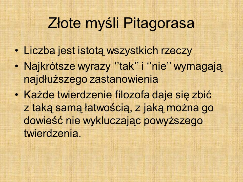 Złote myśli Pitagorasa