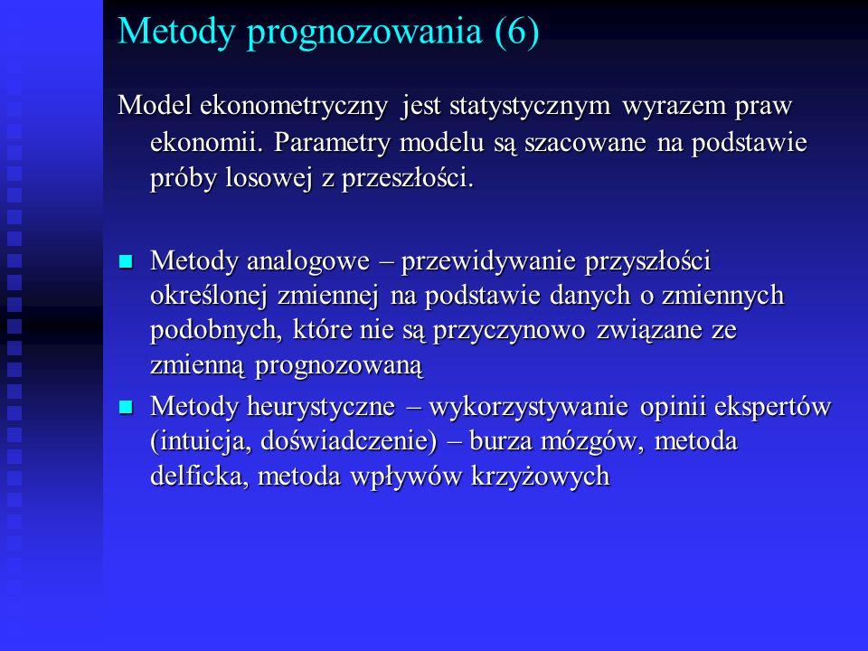 Metody prognozowania (6)