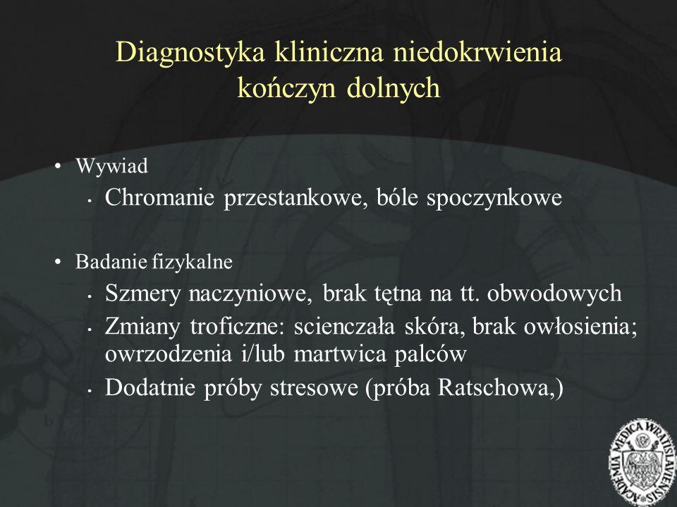 Diagnostyka kliniczna niedokrwienia kończyn dolnych