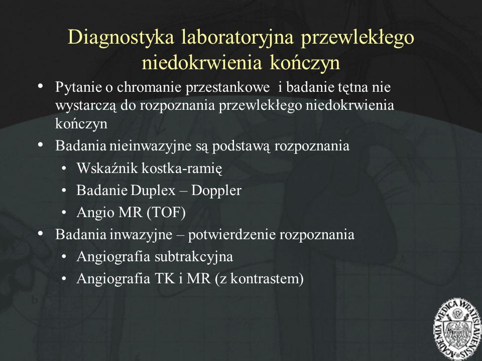 Diagnostyka laboratoryjna przewlekłego niedokrwienia kończyn