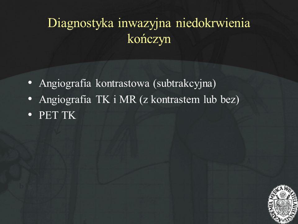 Diagnostyka inwazyjna niedokrwienia kończyn