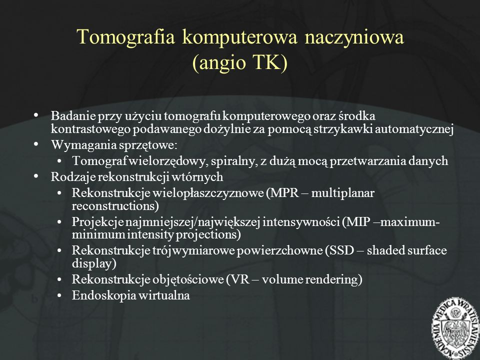 Tomografia komputerowa naczyniowa (angio TK)