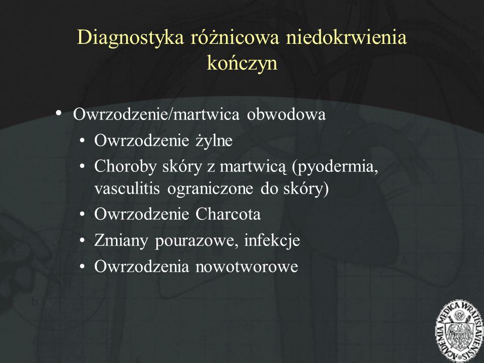 Diagnostyka różnicowa niedokrwienia kończyn