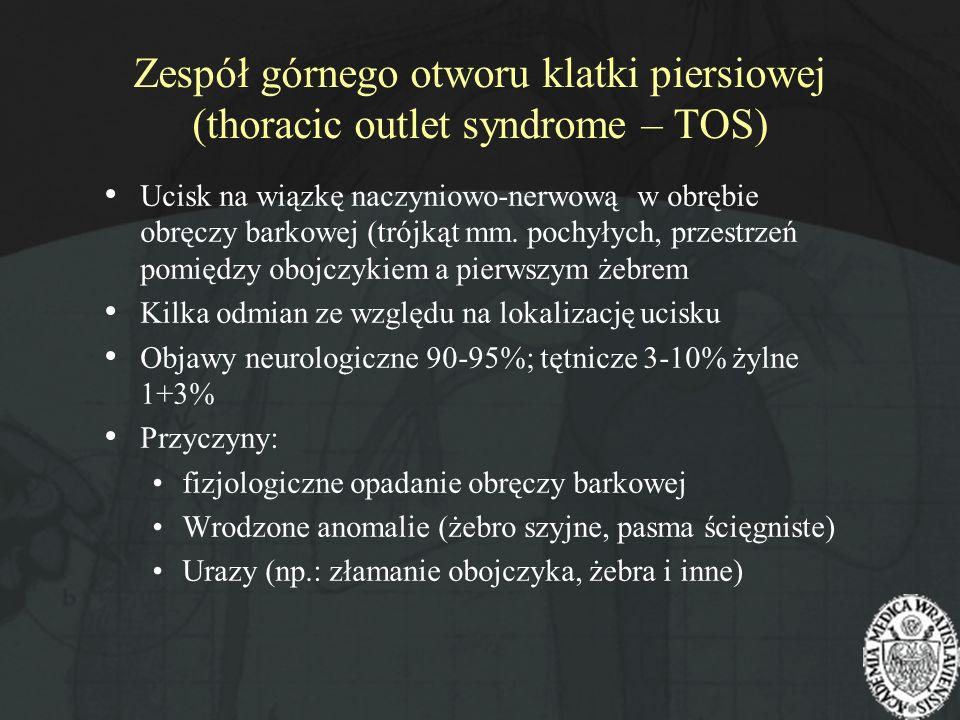 Zespół górnego otworu klatki piersiowej (thoracic outlet syndrome – TOS)