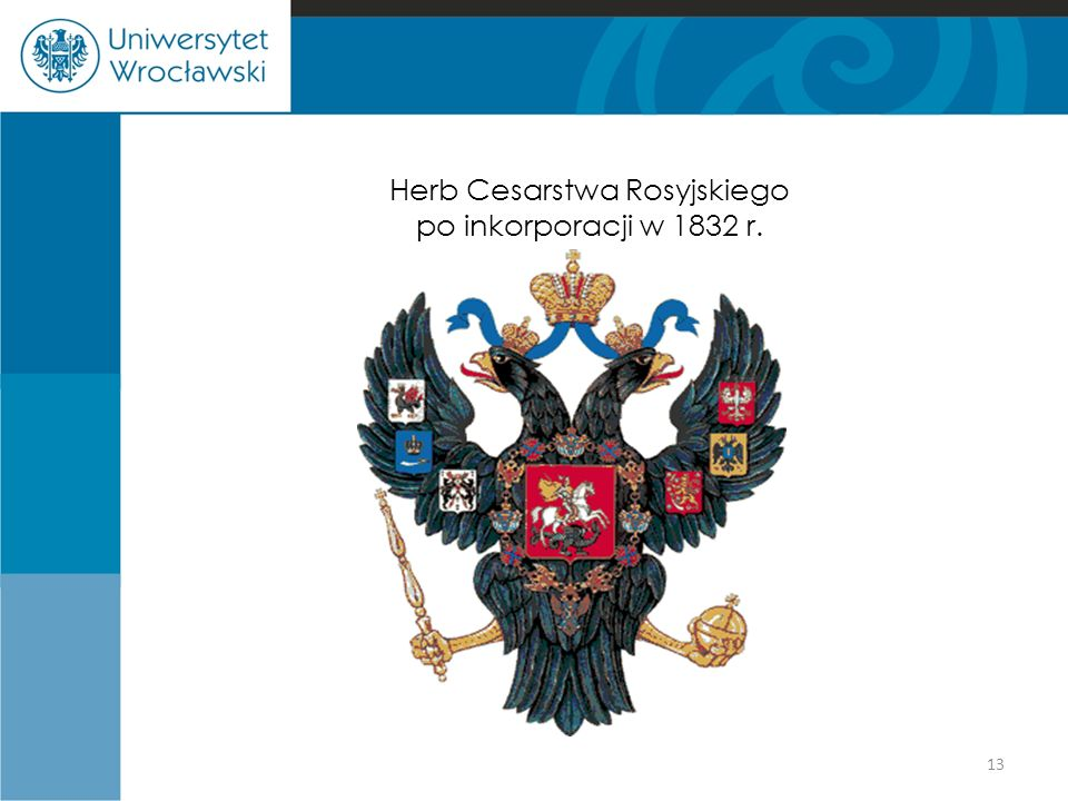 Herb Cesarstwa Rosyjskiego po inkorporacji w 1832 r.