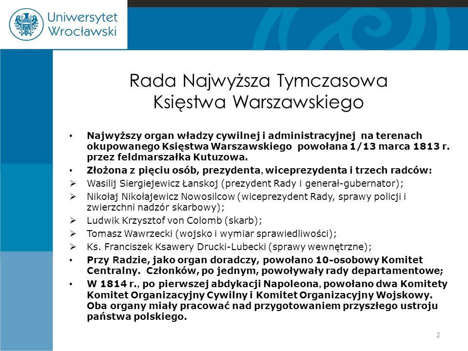 Rada Najwyższa Tymczasowa Księstwa Warszawskiego