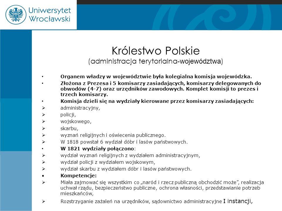 Królestwo Polskie (administracja terytorialna-województwa)