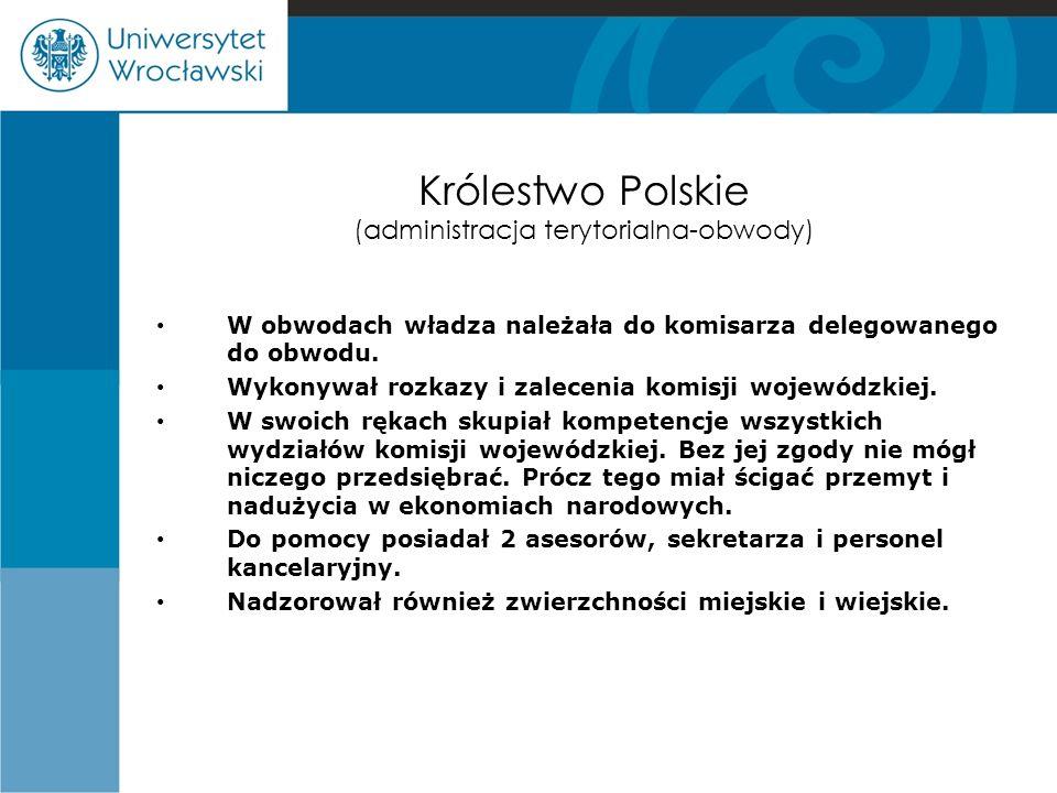 Królestwo Polskie (administracja terytorialna-obwody)