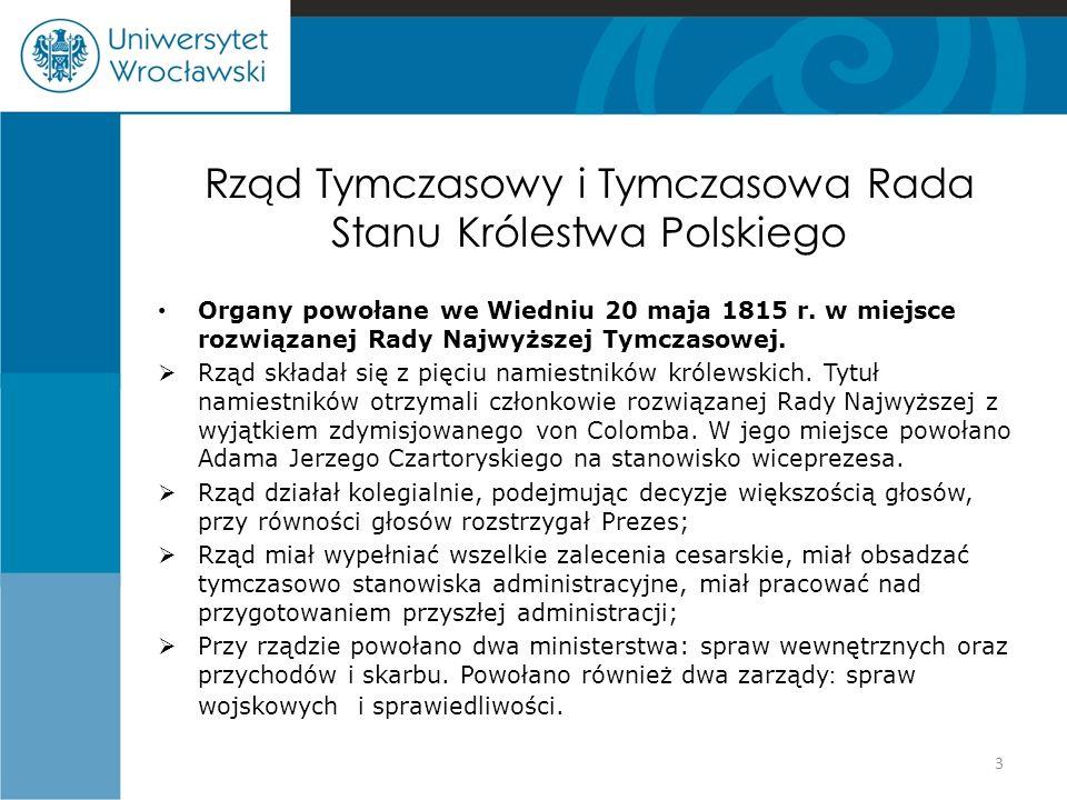 Rząd Tymczasowy i Tymczasowa Rada Stanu Królestwa Polskiego